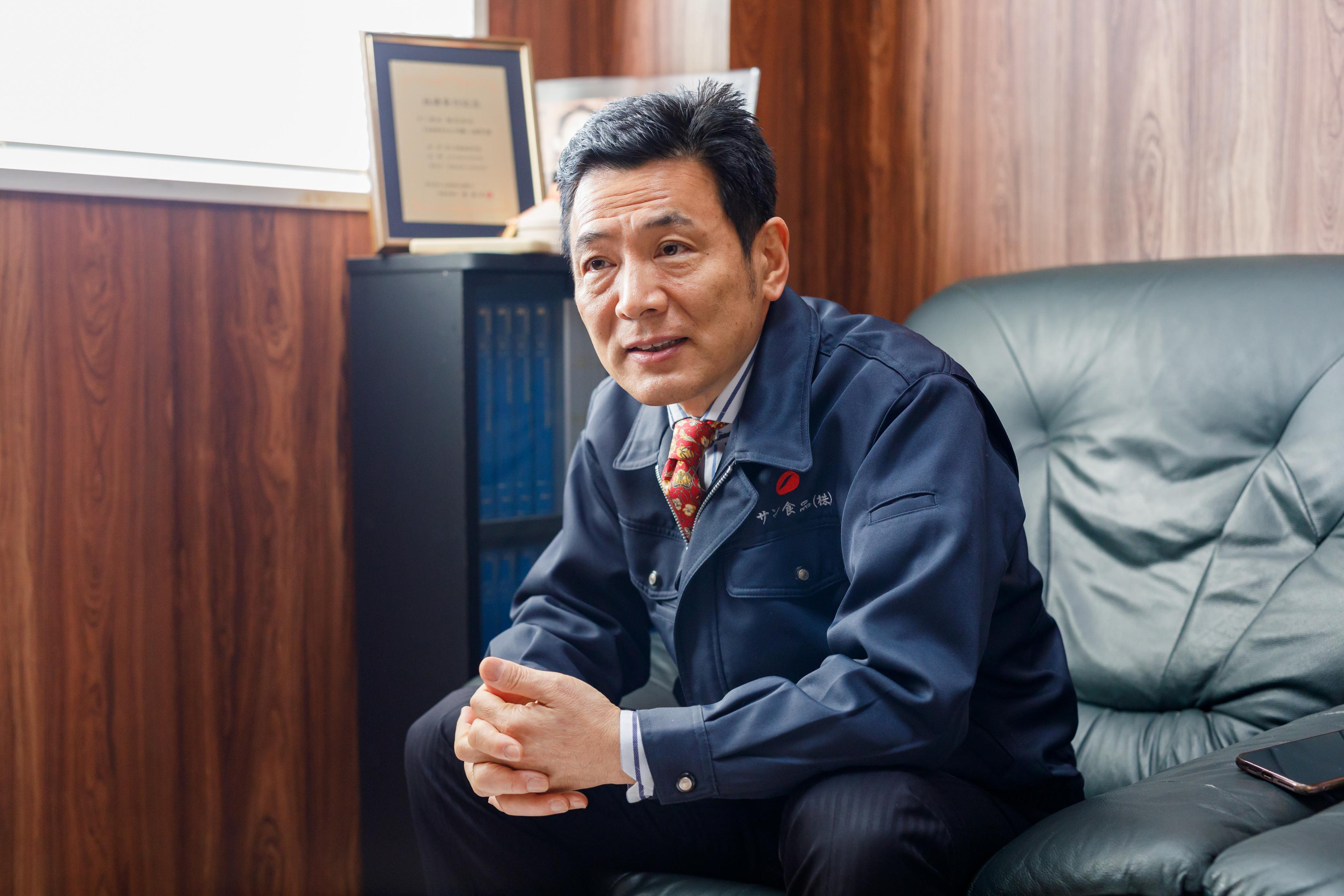 サン食品株式会社 加藤三基男さんさん